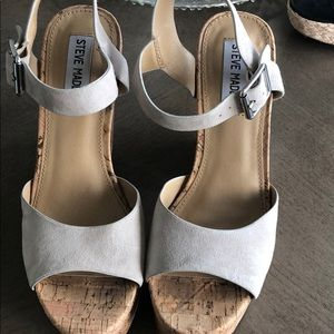 Size 7 Steve Madden Cork Heel, Sand